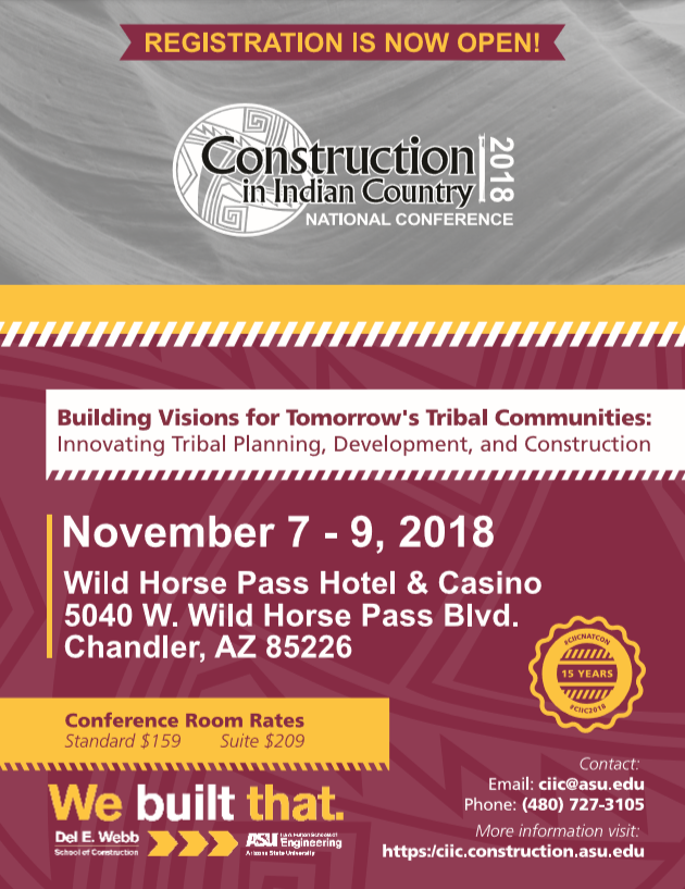 Construction in Indian Country: National Conference 2018 @ Wild Horse Pass Hotel & Casino | Chandler | Arizona | United States