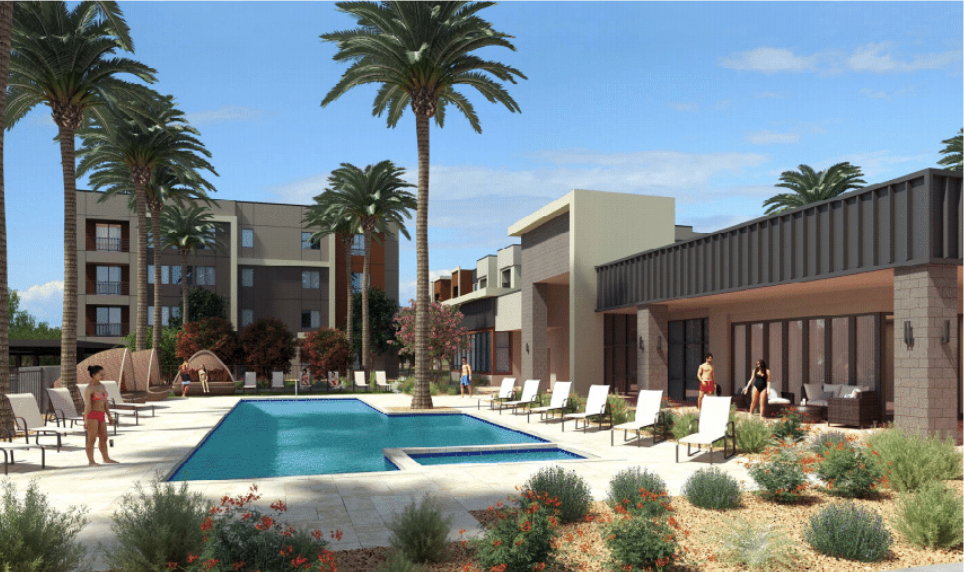 Housing, Food Hall for Revitalized Tempe