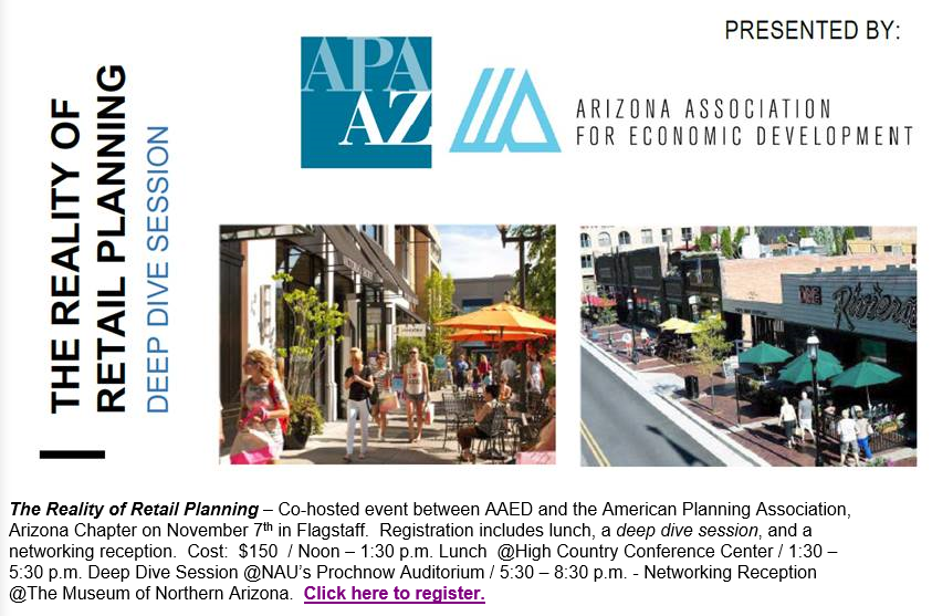 APA Arizona & AAED present Reality of Retail Planning @ The Museum of Northern Arizona | Flagstaff | Arizona | United States