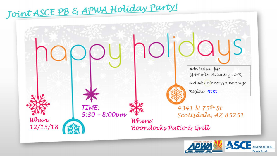 ASCE APWA Holiday Party @ Boondocks Patio & Grill